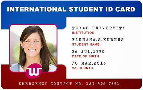 beautiful student id card templates desin  sample word