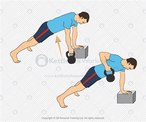 row kettlebell plank workout cyclists kettlebellsworkouts training renegade strength cycling kettlebells