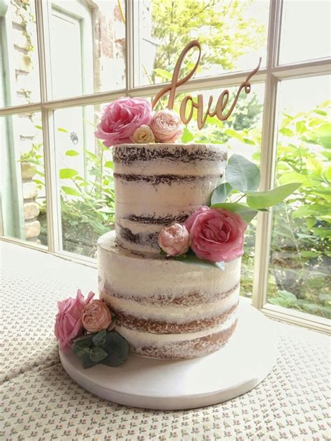 Image Result For Two Tier Semi Frosted Cake Wedding