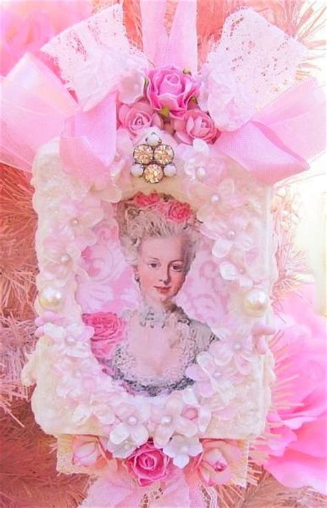 french chic marie antoinette tag pink roses