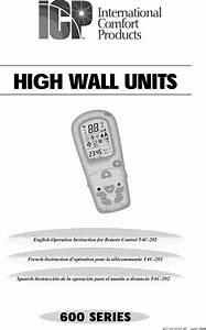 Icp Air Conditioner  Heat Pump Outside Unit  Manual L0803420