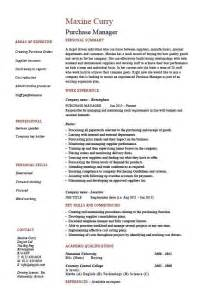 resume format template for job description purchasing manager resume sle the best letter sle