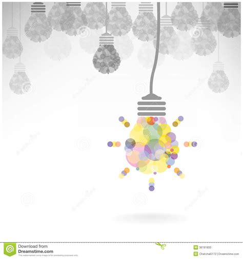 creative light bulb idea concept background design stock