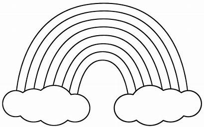 Rainbow Coloring Printable Pages Colouring Rainbows Colour