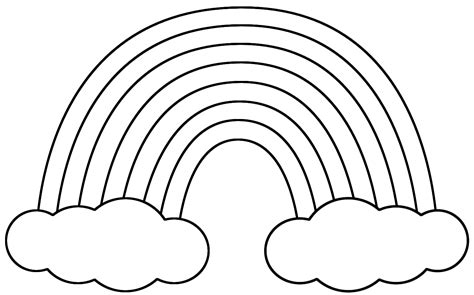 rainbow coloring pages Only Coloring Pages