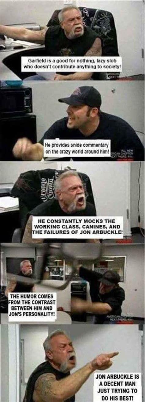 American Chopper Meme Template Garfield American Chopper Argument Your Meme