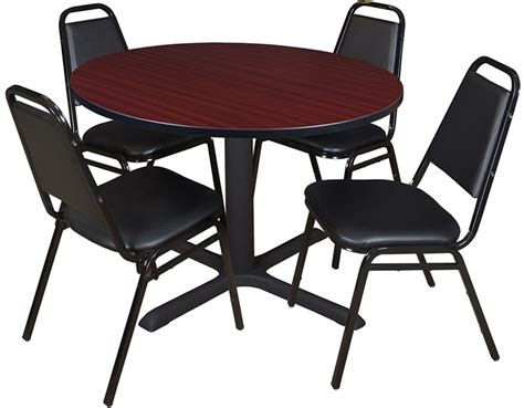 cain 48 laminate breakroom table with 4 restaurant