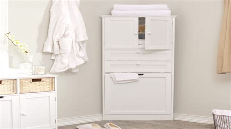 corner vanity cabinet linen closets for bathrooms white