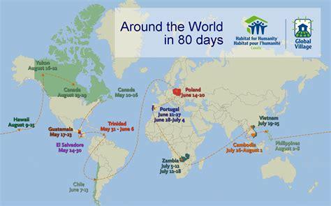 Map Trip Around World 80 Days