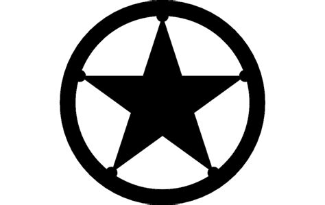 Texas Star Dxf File Free Download