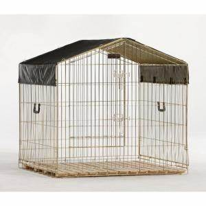 Lucky dog travel uptown dog kennel at home depot pets for Dog run fence home depot