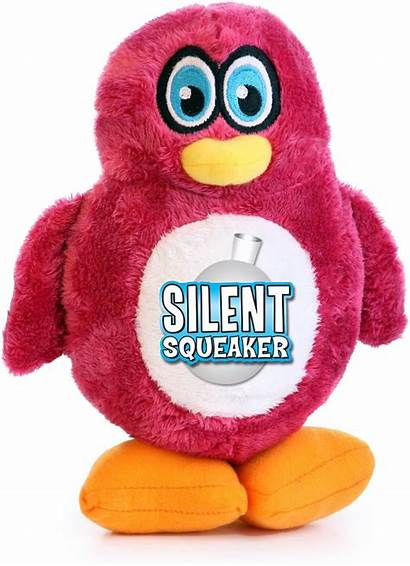 Penguin Squeaker Silent Dog Toy Doggy Hear