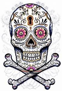 Crane Mexicain Dessin : tete de mort mexicaine tattoo brico pinterest t te de mort cr nes artistiques et tatouage ~ Melissatoandfro.com Idées de Décoration