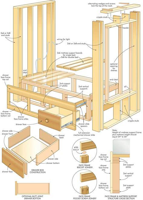 plans bed construction plans  porch swing