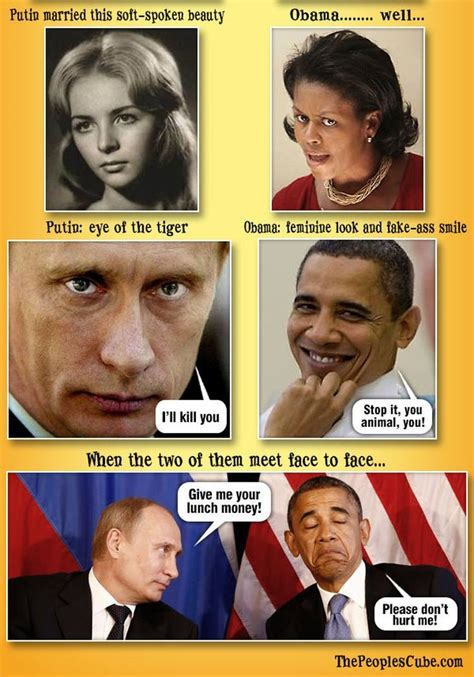 Obama Putin Memes - putin vs obama hilariously compared in 10 brutal pictures