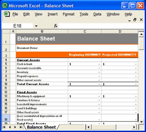 business financial statement template excel case