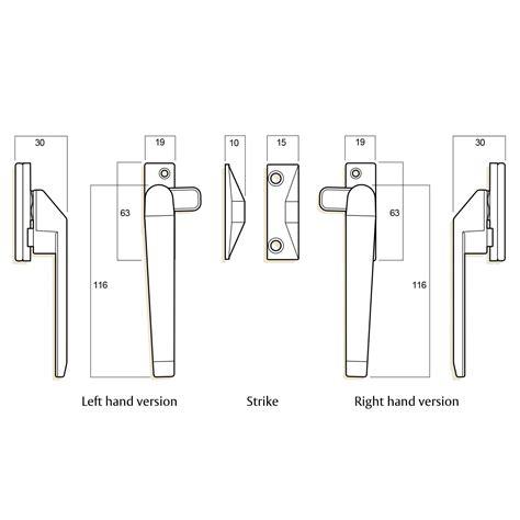 whitco  window lock black series  rh casement fastener  lockable ebay