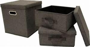 Stoffbox Mit Deckel : artra design ordnungsboxen grau 3er set aufbewahrungsboxen stoff aufbewahrungskorb mit deckel ~ Frokenaadalensverden.com Haus und Dekorationen
