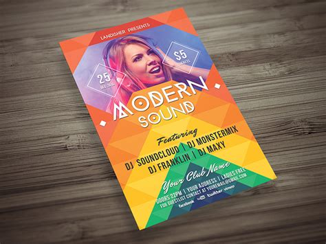 Colorful Flyer Psd Template Free Download by Colorful Music Event Flyer Template Landisher