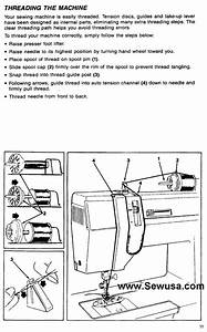 Singer 7022 9022 9420 9432 Sewing Machine Threading Diagram