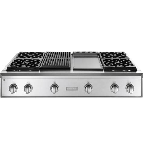 monogram  professional gas rangetop   burners grill  griddle natural gas