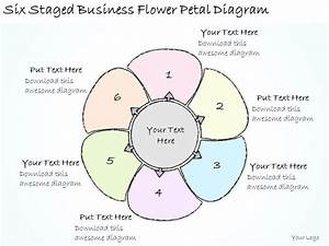 1814 Business Ppt Diagram Six Staged Business Flower Petal