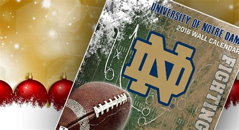 christmas gifts for notre dame fans notre dame calendars notre dame gift guide uhnd