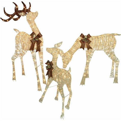 outdoor lighted reindeer christmas decoration www