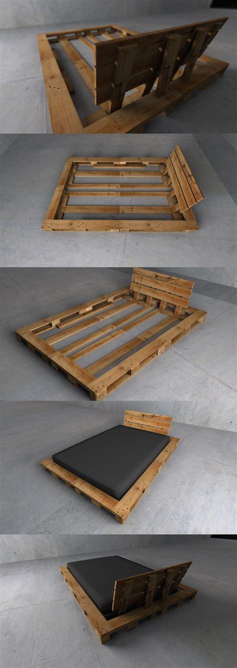 construire un bureau en bois 4 palettes de bois pour construire la structure d 39 un lit