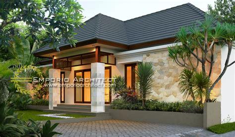 desain villa  lantai bergaya bali tropis jasa arsitek