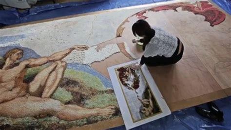 la fresque de la chapelle sixtine en chamallows