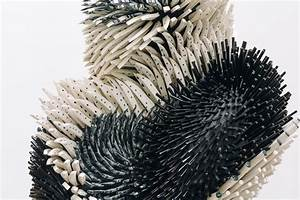 Densely textured sculptures produced from thousands of for Densely textured sculptures produced from thousands of porcelain spines by artist zemer peled