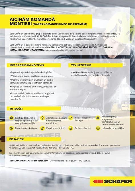 SSI Schaefer, SIA Metāla izstrādājumu montieris/-e (darbs ...