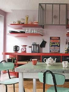 la cuisine vintage s39affirme en deco tendance With deco retro cuisine