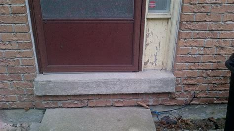 Replace Window Sill Outside by How To Replace Exterior Door On Cement Sill Windows And