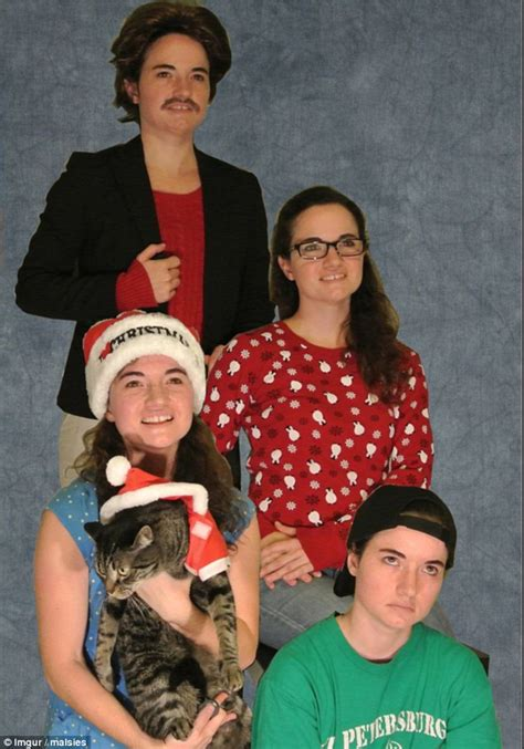 Christmas quotes for family members. Imgur user poses as a WHOLE family for Christmas card to ...