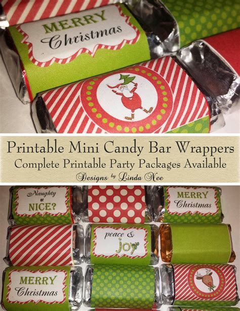 Download this free candy bar wrapper template. Candy Bar Wrappers Santa Christmas Mini Hershey Bar Candy | Etsy