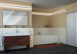 Led beleuchtung im bad wellness im badezimmer mit led for Indirektes licht bad