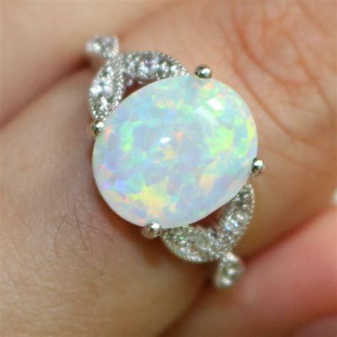 Opel Ring by Size 4 12 Sterling Silver Australian Opal Ring