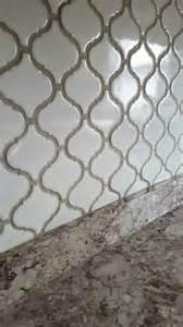 backsplash tile for white kitchen arabesque lantern tile with oyster gray grout home