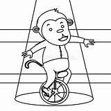 Unicycle Monkey Circus Coloring Pages Template Dreamstime sketch template