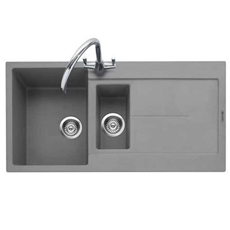 grey sink kitchen caple canis 150 pebble grey granite sink kitchen sinks 1508