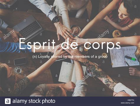 Esprit De Corps Group Loyalty People Graphic Concept Stock