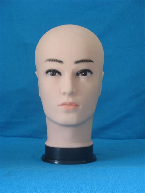Realistic Plastic Male Mannequin Dummy Head, Manikin Heads ...
