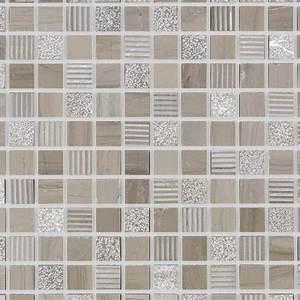 Mosaique marbre beige wood indoor by capri for Mosaique marbre salle de bain