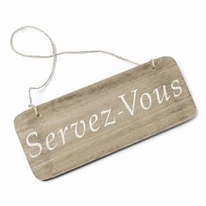 Pancarte En Bois : pancarte bois servez vous ~ Teatrodelosmanantiales.com Idées de Décoration