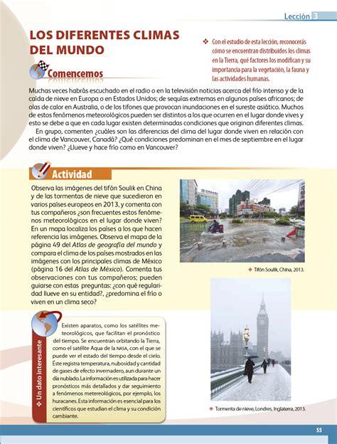 Séptimo grado tiene libro de geografía? Geografía quinto grado 2017-2018 - Página 55 - Libros de ...