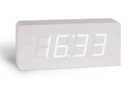horloge design digitale blanche opio