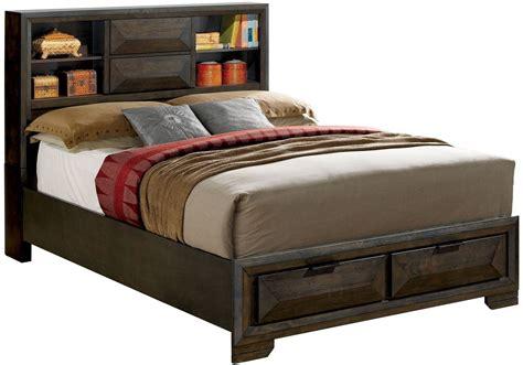 Nikomedes Espresso Calking Platform Storage Bed, Cm7557ck