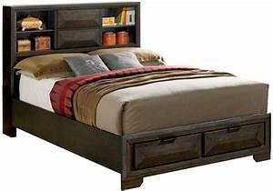 Nikomedes, Espresso, Cal, King, Platform, Storage, Bed, From, Furniture, Of, America